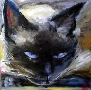 chat penseur